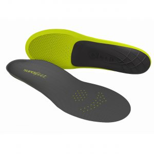 The result of years of research and field testing, Superfeet CARBON insoles are ideal for the dedicated athlete who demands high performance results. Superfeet's revolutionary insole achieves a new level of lightweight performance by combining a carbon fibre-reinforced stabiliser cap with a durable, ultralight foam layer. CARBON's distinct bio-mechanical shape and low-volume design can help improve the fit and feel of tight-fitting athletic footwear like cleats and lightweight shoes.
