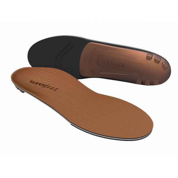 Simply wear the Superfeet COPPER insoles to create perfect impressions of your feet – no casting or baking required. The memory foam captures the shape from the pressure of your foot while you stand, walk or run through the day. The COPPER offer the most flexible and accommodating shape and support.