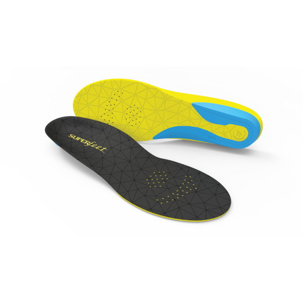 The Superfeet FLEX series of insoles offer an excellent introduction to the Superfeet experience. The flexible heel cradle and active Aerospring™ full-length foam combine to create a contoured shape under the foot. The specialised FLEX design allows the insole to easily conform to the widest range of footwear.
