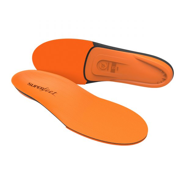 Superfeet ORANGE insoles were created for the people who want a little more spring under their feet when they go the extra mile. Superfeet re-engineered their insole design to add a resilient, high- impact foam forefoot, while maintaining Superfeet's unmistakable shape and legendary support. The result is an insole that can take a pounding so your feet don't have to.