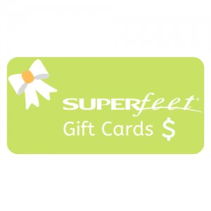 Superfeet Gift Cards - a perfect way give comfort or pain relief to someone you care about