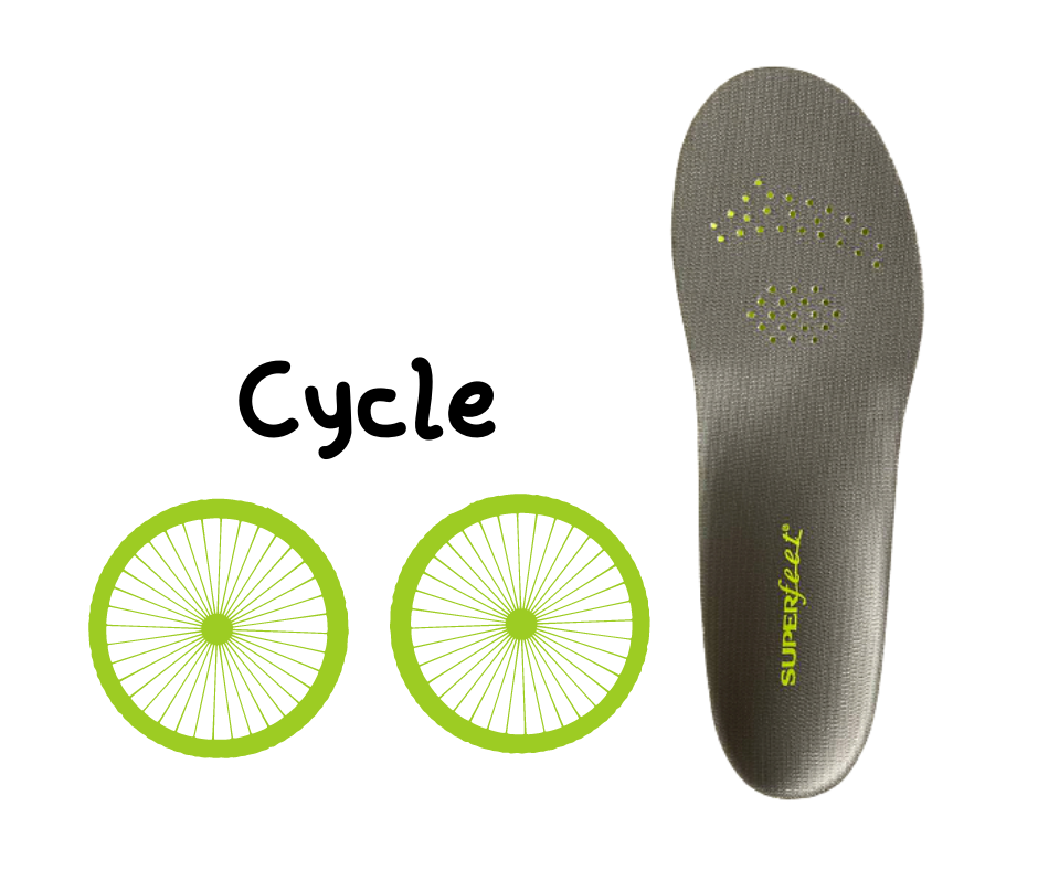 Superfeet insoles for cycling shoes